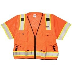 ML Kishigo S5011 Orange Professional ANSI Class 3 Surveyor Safety Vest