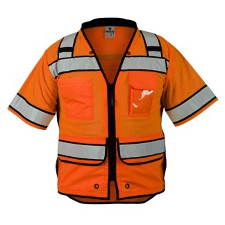 ML Kishigo S5015 High Performance Surveyors Orange Vest