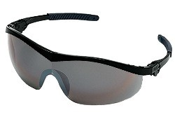 Storm Safety Glasses - BLACK FRAME SILVER MIRROR LENS