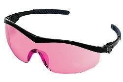ST11V Safety Glasses - BLACK FRAME VERMILLION LENS