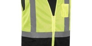 C16002QGB CLASS 2 - LIME SAFETY VEST (BLACK BOTTOM)