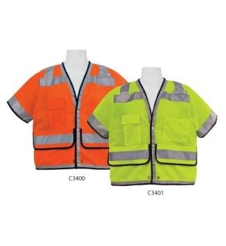 C3400 Class 2 Orange Heavy Duty FR Safety Vest