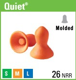 QUIET QD-1 EAR PLUGS  WITHOUT CORD 200 CT