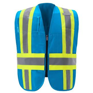 IC110BL BLUE CONTRAST INCIDENT COMMAND VEST