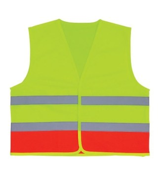 3A Safety K2000 Lime/Orange V-Neck Kids Vest