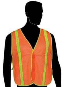 N16230 All Mesh Orange Non-ANSI Vest, With Reflective Stipes