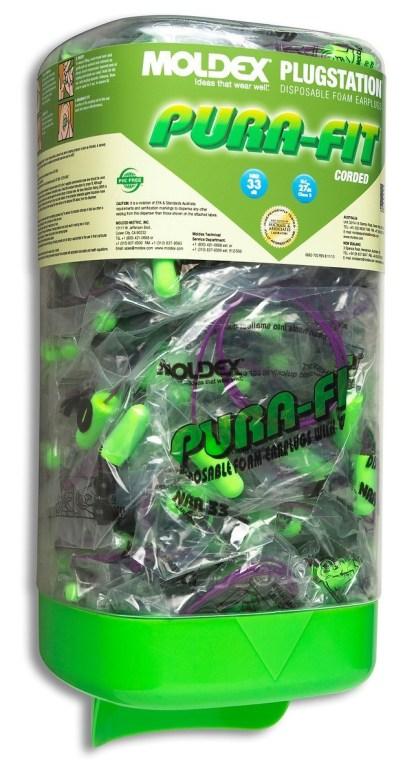 Moldex 6882 Pura Fit Corded Earplugs NRR 33 PlugStation - 150 Pairs