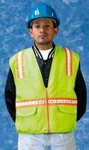N16020G Lime Surveyors Vest