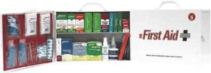 ANSI Class B Type I&II 75 Person 2 Shelf Industrial First Aid Cabinet