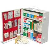 0613A ANSI CLASS A 3 SHELF INDUSTRIAL FIRST AID CABINET  WITH LINER - TYPE I & II - 100 PERSON