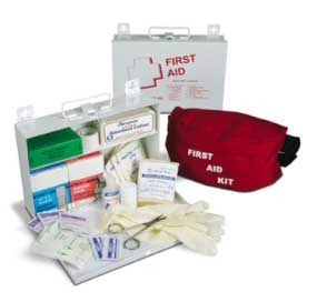 Prostat 25 Person Unit Metal First Aid Kit
