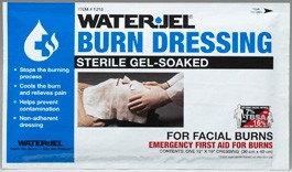 "Water-Jel 12"" X 16"" Burn Dressing For Facial Burns"