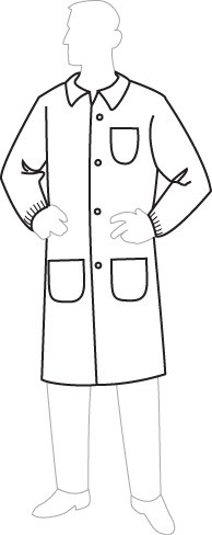 15301 PolyGard Lab Coats with Pockets, 30ct/case