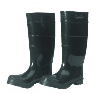 1551 Black Steel Toe PVC Boots, Pair