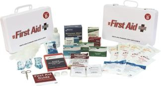 ANSI 2015 Class B Metal First Aid Kit, 50 Person