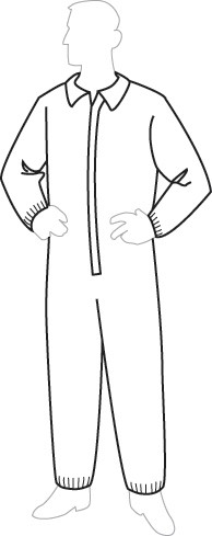 19125 ProGard Disposable Coverall with Elastic Wrist & Ankles, 25ct/case