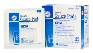 "Sterile Gauze Pads 2"" x 2"" 25/bx"