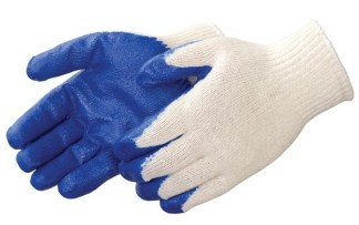 Liberty Gloves 4719 A-Grip Blue Latex Coated Palm Glove, Dozen