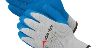 Liberty Gloves 4729G A-Grip Blue Latex Coated Palm Glove, Dozen