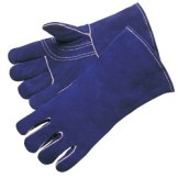 Liberty Gloves 7354 Premium Blue Select Shoulder Leather, Reinforced Thumb and Kevlar Sewn Welders Gloves, Dozen