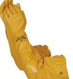 "Liberty Gloves 772 Atlas Yellow Nitrile Rough Finish with 26"" Sleeve, Dozen"