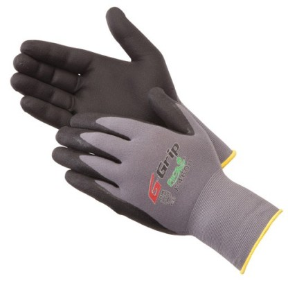 Liberty Gloves F4600 G-GRIP Black Nitrile Micro-Foam Palm Coated Glove, Dozen