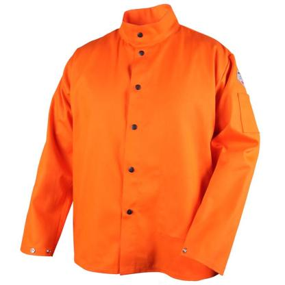 Black Stallion FO9-30C TruGuard  9oz. Safety Orange FR Cotton Welding Jacket