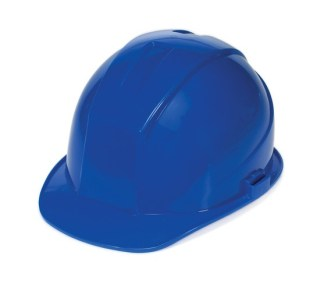 DURASHELL 4 POINT RATCHET SUSPENSION BLUE HARD HAT