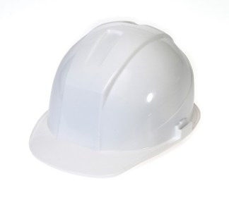 DURASHELL 4 POINT RATCHET SUSPENSION WHITE HARD HAT