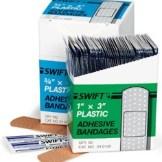 """ProStat 2171 Plastic Adhesive Bandages, 3/4"""" x 3"""", 100/Box"""