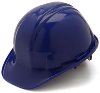 Blue Hard Hat with 6 Point Suspension