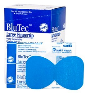 Blue Non-Metal Detectable Finger Tip Bandage 25ct.