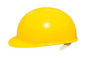 Bump Caps - Bump cap w/ white shell, suspension & polyester  brow pad