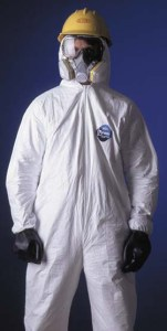 DuPont Tyvek Coveralls - Attached hood, elastic wrists & ankles