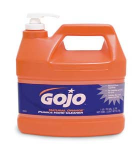GOJO NATURAL* ORANGE Pumice Hand Cleaner - NATURAL ORANGE Pumice Hand Cleaner, pump dispenser, 1 gal.
