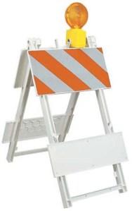 JACKSON SAFETY* Plastic Type I Barricade - Engineer grade sheeting