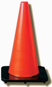 """JACKSON SAFETY* DW Series Traffic Cones - Traffic cone w/ 4"""" & 6"""" reflective collar, 7 lbs."""