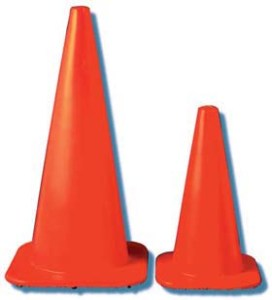 """JACKSON SAFETY* W Series Cones - W Series cone w/ 4"""" & 6"""" collars, reflexite, 6 1/2 lbs."""