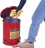 Oily Waste Cans - 10-Gal. oily waste can