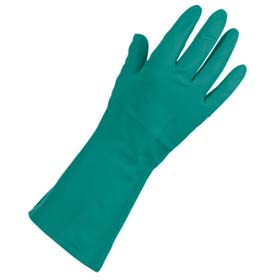 Nitrile Reusable Chemical-Resistant Gloves - Nitrile gloves, lined, 15-mil
