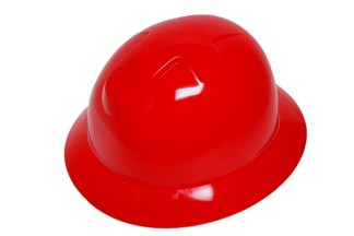 DURASHELL FULL BRIM 6 POINT PINLOCK SUSPENSION RED HARD HAT
