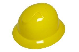 DURASHELL FULL BRIM 6 POINT PINLOCK SUSPENSION YELLOW HARD HAT