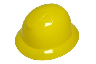 DURASHELL FULL BRIM 6 POINT PINLOCK SUSPENSION YELLOW HARD HAT