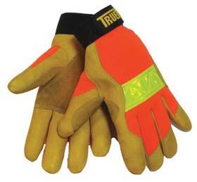TrueFit Hi-Vis Gloves - TrueFit hi-vis gloves