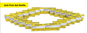 ProStat Bandage 2413 Plastic Strips 1 inch X 3 inch, 16 per Box