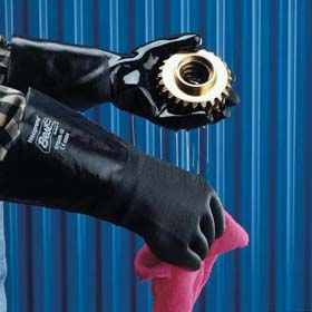 Chemical Resistant Safety Gloves With Support Lining