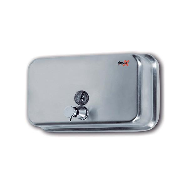 distributeur de savon horizontal 1200 ml inox brosse