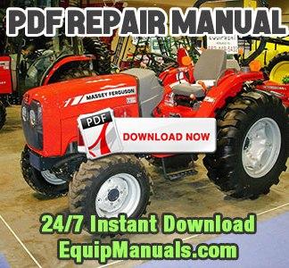 massey ferguson 4608 4609 4610 tractor repair service manual