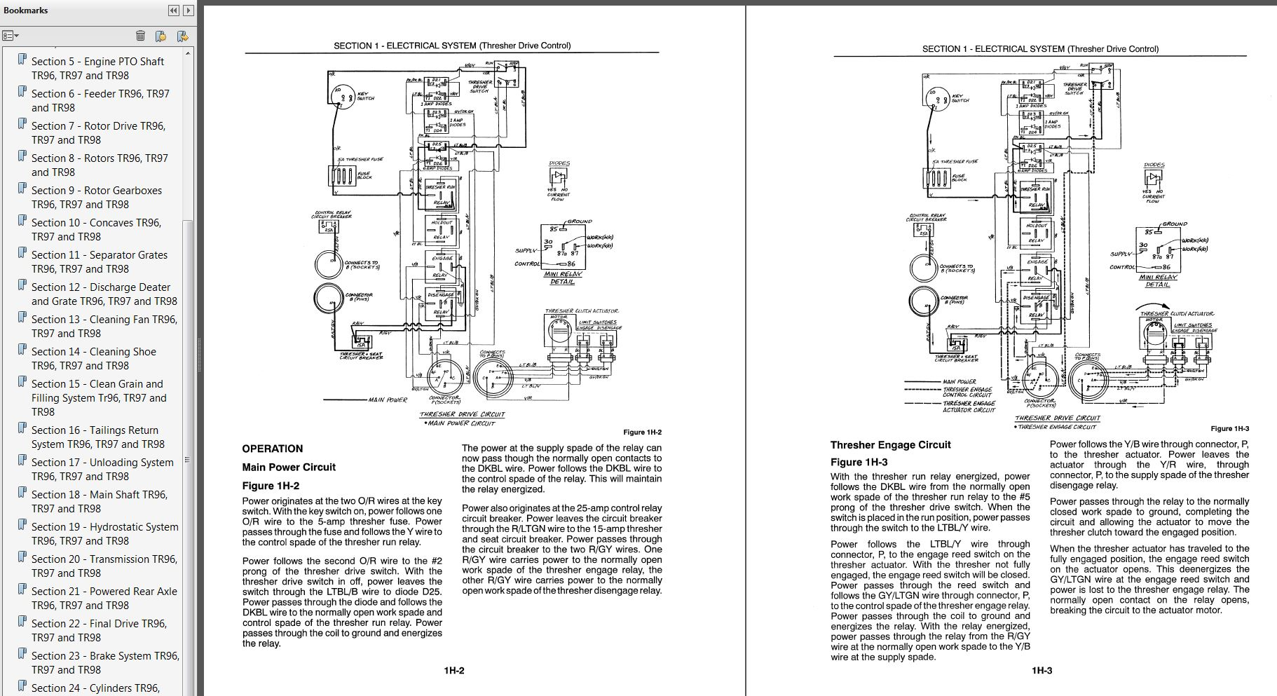 New Holland Tr96 Tr97 Tr98 Combine Service Manual