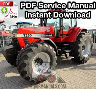 Case IH 7100, 7200 Series Magnum Tractor Service Manual ... Magnum Wheel Lift Wiring Diagram on